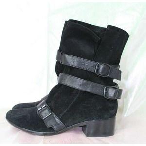 Modern Vintage Leather 'Muriel' Black Boots